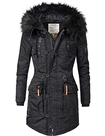 573a84a645241a Khujo Halle Ladies' Winter Coat Winter Parka 4 Colors XS-XXL: Amazon.co.uk:  Clothing