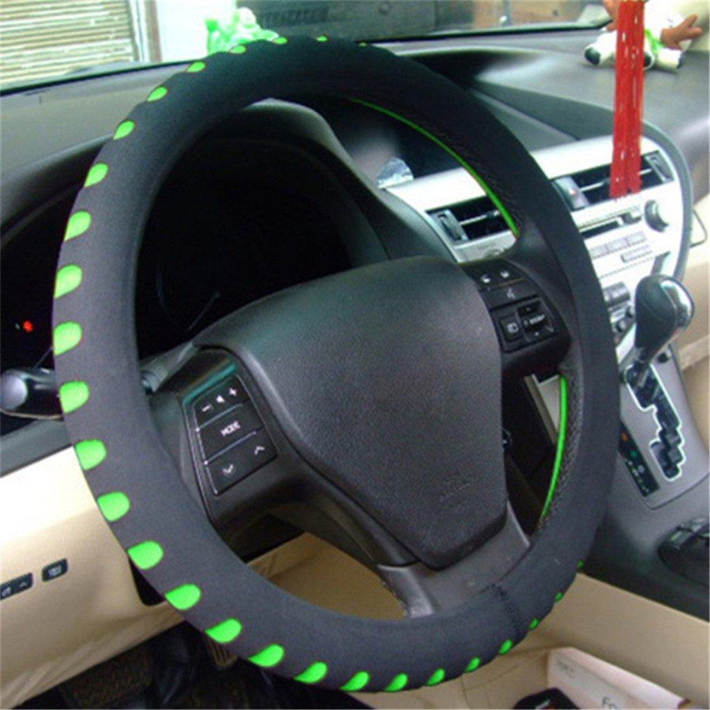 Thick CanVivi Gray Car Universal Durable Non-Slip Steering Wheel Cover,Gray