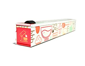 """ChicWrap Baker's Tools Parchment Paper Dispenser with 15""""x 41 Sq. Ft Roll of Culinary Parchment Paper"""