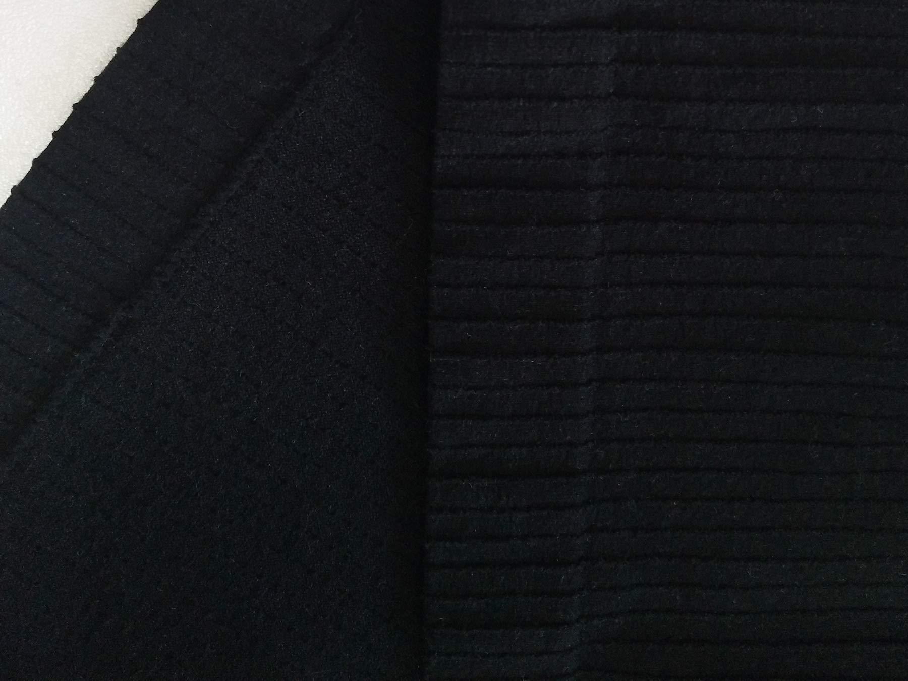 SPECIAL MAGIC Women\'s Seamless Rib Knit Mock Turtleneck Sleeveless Crop Top Black One Size