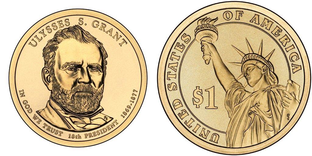 Grant Presidential $1 Coin Ulysses S