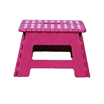 Enjoyable Db Living Plastic Folding Step Stool With Handle 12 Wide Of Kids Or Adults Stepping Stool For Kithchen Bathroom Bedroom Plum Evergreenethics Interior Chair Design Evergreenethicsorg