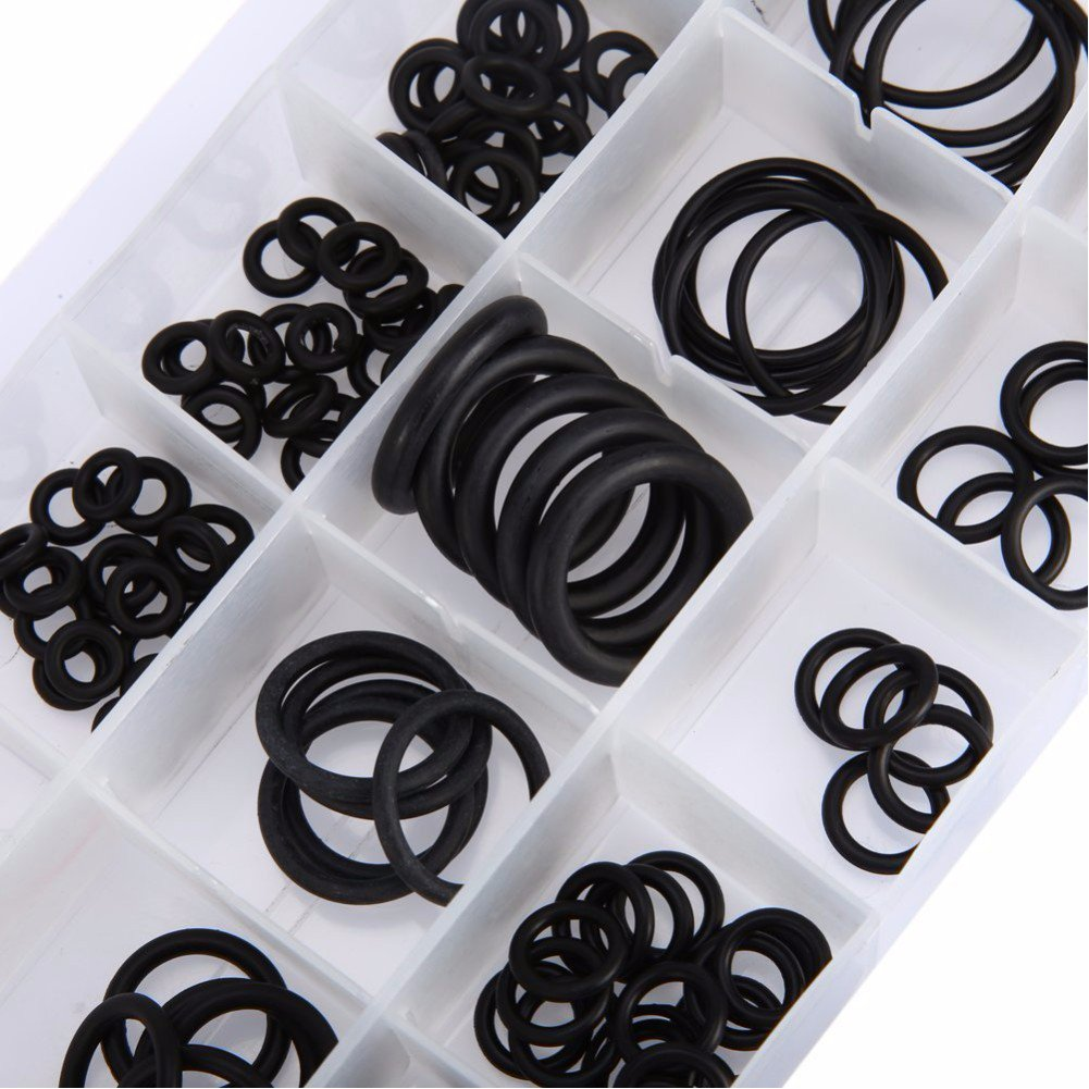 225PCS flessibile in gomma nera O-ring rondella condizionatore d' aria per auto guarnizione di tenuta o ring assortimento kit con custodia VOOYE