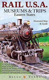Rail Usa Eastern States Map Guide To 413 Train Rides Historic Depots Railroad