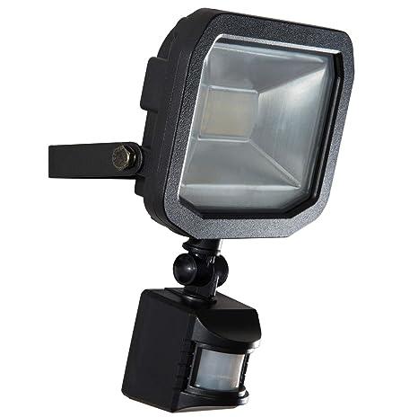 Luceco LED PIR - Foco de exterior con detector de movimiento, 10 W, 600
