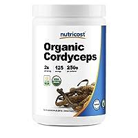 Nutricost Organic Cordyceps Powder 250 Grams - USDA Certified Organic, Non-GMO, Gluten Free