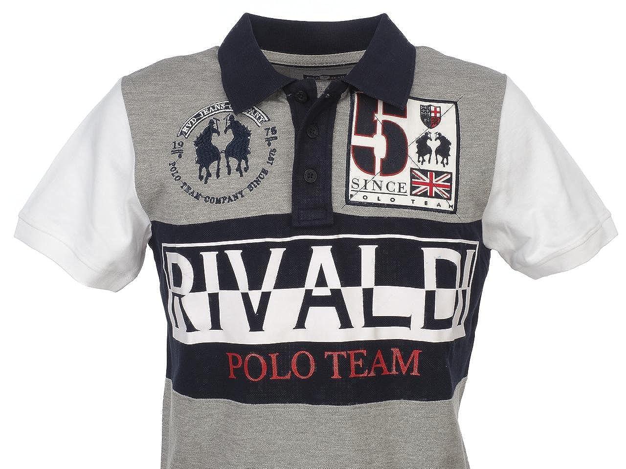 Rivaldi black Pokalin mc-grc-Polo-Polo de manga corta Gris ...