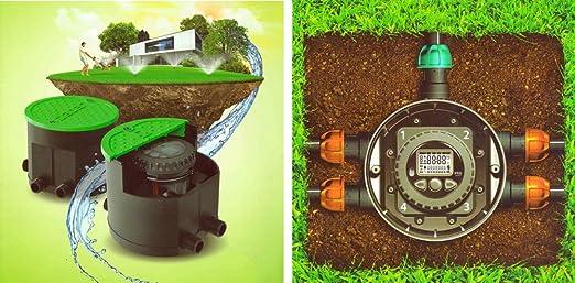 Claber Hydro 4 mit 4 Magnetventilen und Steuergerät für Gartenbewässerung