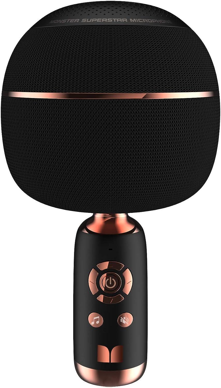 MONSTER M97 Superstar Dynamic Karaoke Microphone, Handheld Wireless Bluetooth Karaoke Machine, Bluetooth 5.0 TWS Portable Speaker Mic for Home, Party, Car, Outdoor