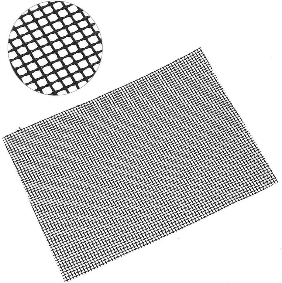 Zwindy Grill Pad BBQ Backmatten Antihaft Grillmatten BBQ Grillmatte Grillmatte BBQ Mat, für Ofen für BBQ Grills(Black 36 * 42cm) Black 36*42cm