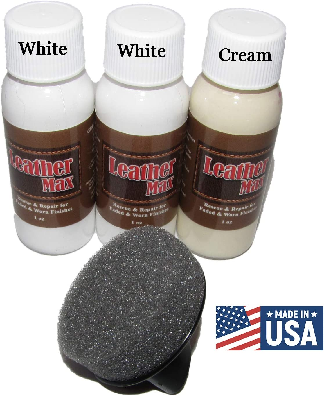 Restore Recolor /& Repair // 3 Color Shades to Blend with//Leather Vinyl Bonded and More Wine Mix Leather Max Quick Blend Refinish and Repair Kit
