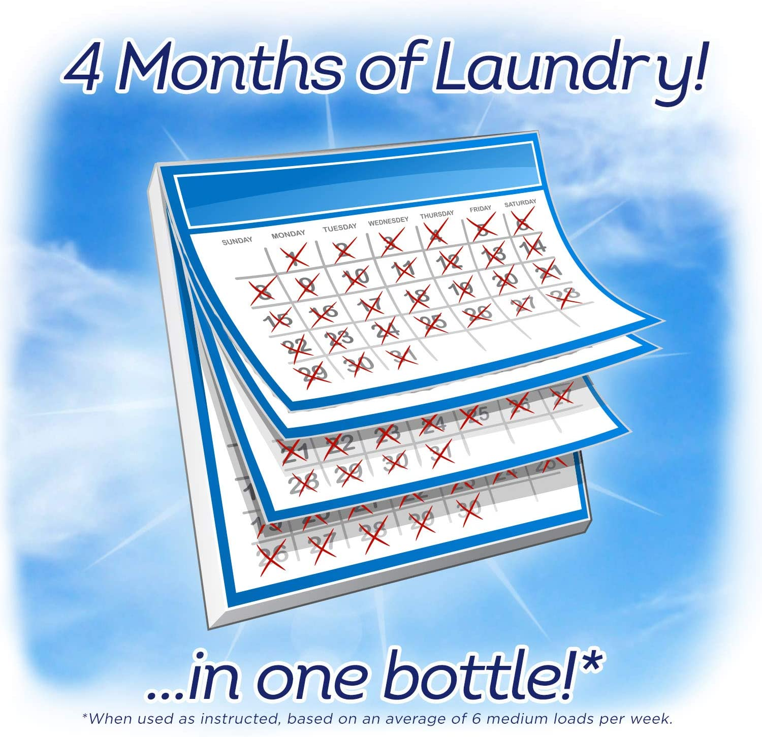 All Liquid Laundry Detergent, Free Clear for Sensitive Skin, 2X Concentrated, 110 Loads: Health & Personal Care