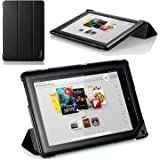 "Poetic Slimline Portfolio Case for Barnes & Noble Nook HD+ Full HD 9"" tablet Black (3 Year Manufacturer Warranty From Poetic)"