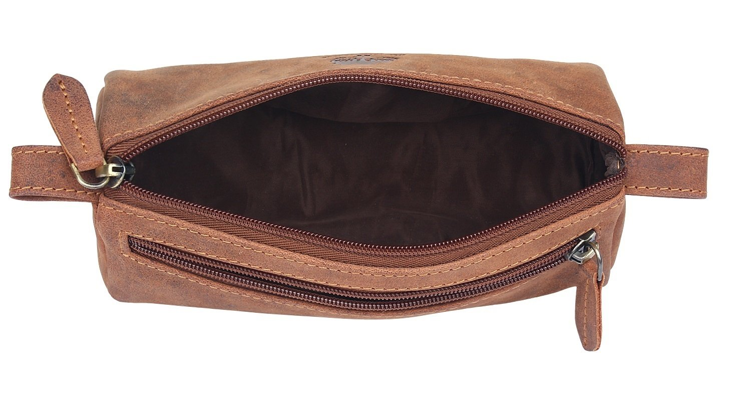 Leather Pencil Case - Zippered Pen Pouch for School, Work & Office by Rustic Town by RusticTown (Image #9)