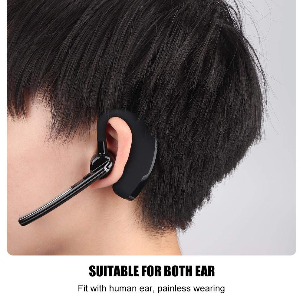Ciglow Bluetooth Earpiece, Portable K-Head Wireless Bluetooth 4.0 Headset Earpiece with PTT Microphone Interphone Bluetooth Headset for All K-Plug Walkie Talkie by Ciglow (Image #5)