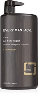product image for Every Man Jack 3-in-1 All Over Wash, Sandalwood, 32-ounce