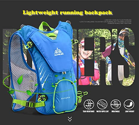 Amazon.com : AONIJIE Running Vest Pack Camping Hydration Backpack Waterproof Nylon 8L Sport Bag Marathon Cycling Hiking +Soft Water Bottle(Optional), Black, ...