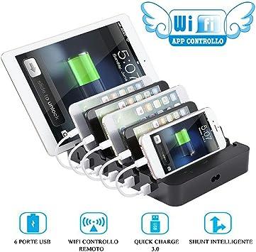 Estación de carga de mesa de smartphones con 6 puertos, con ...