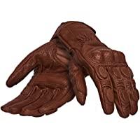 Royal Enfield RRGGLH000028 GLAW17004 Leather Vintage Riding Gloves (Tan, L)