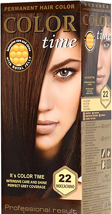 Color time, tinte permanente para el cabello de color mocacino 22