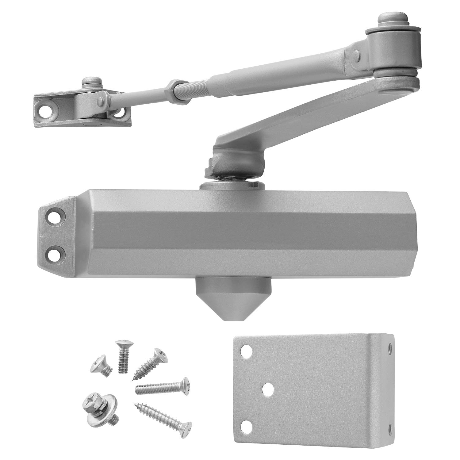 Standard Duty Adjustable Commercial Door Closer, Power Size #3, Automatic Closing and Latching, for Interior and Light Commercial Doors by Lawrence Hardware LH303