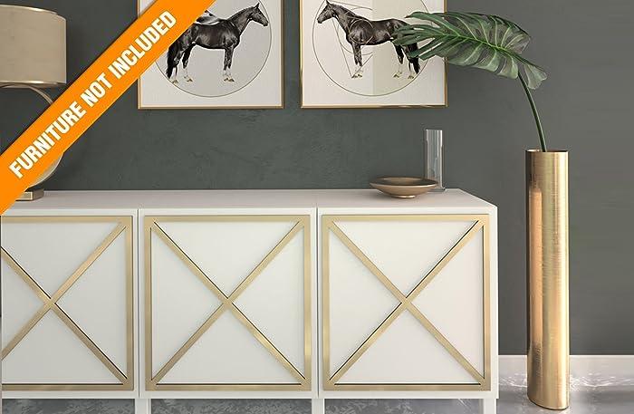 HomeArtDecor | Almada Laubholzverkleidung | Geeignet Für IKEA Besta |  Hochwertige Überlagerung | Farbe: PVC