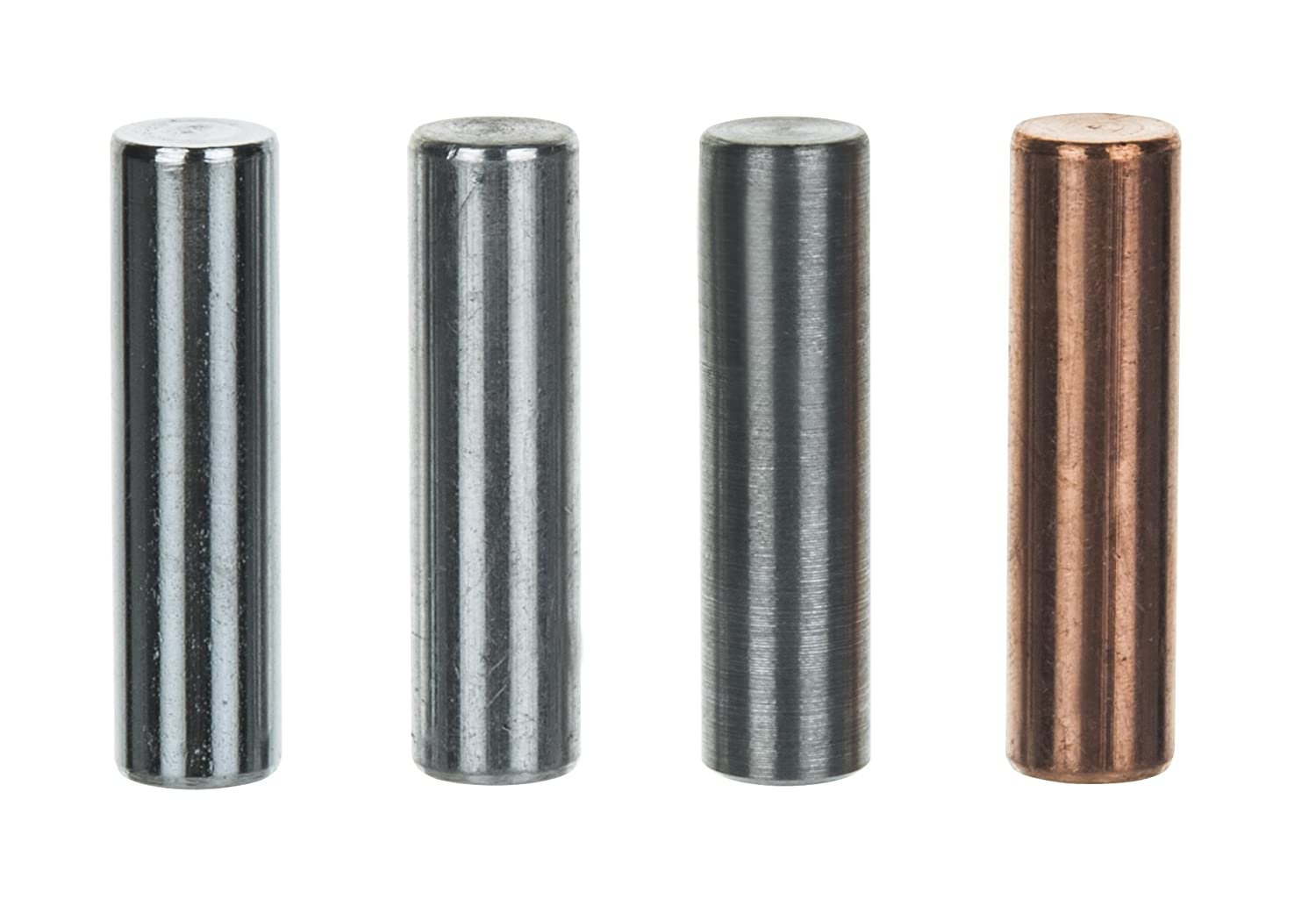 Eisco Labs Specific Gravity Metal Cylinder Set - Alum., Brass, Copper, and Steel