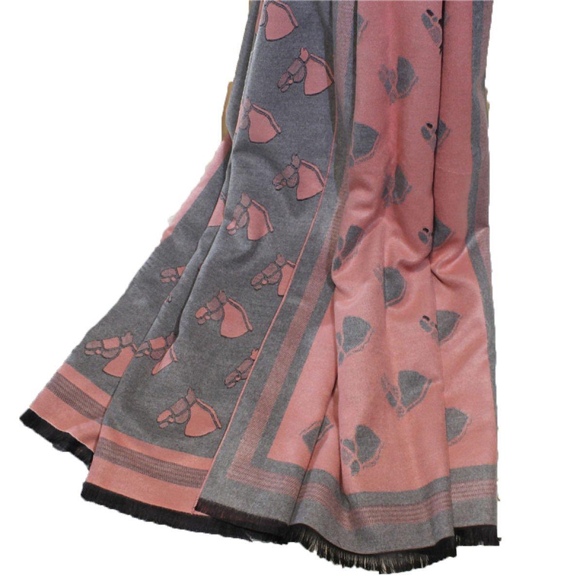 DIDIDD Bufanda de señora doble cara gruesa más gruesa caliente,3,190 * 80cm
