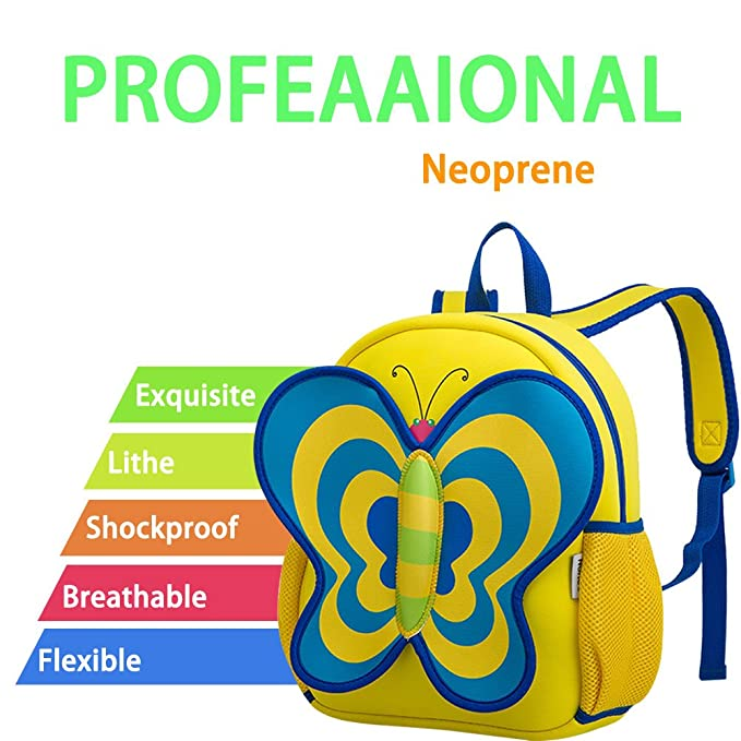 d5df8a668c BINGONE NOHOO Kids Girl s Shoulder Bag 3D Cartoon Pre-schooler Backpack  Butterfly Pink  Amazon.co.uk  Sports   Outdoors