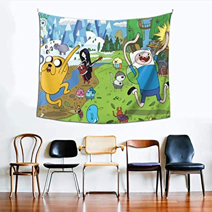 Ingshihuainingxianchuangju Adventure Time With Treasures Tapestry Wall Hanging Room Living Tapestrys Home Decorative Bedroom Art Tapestries 60 X 51 Inch Amazon Co Uk Kitchen Home