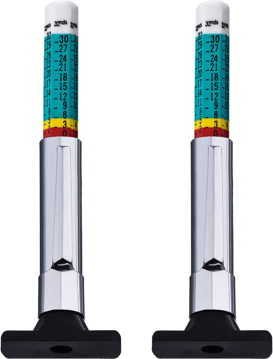 Green Outus 2 Pack Color Tyre Tread Depth Gauge