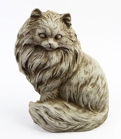 Chester Cat Concrete Garden Outdoor Statue Animal Cement Figure Cast Stone  Kitten Sculpture