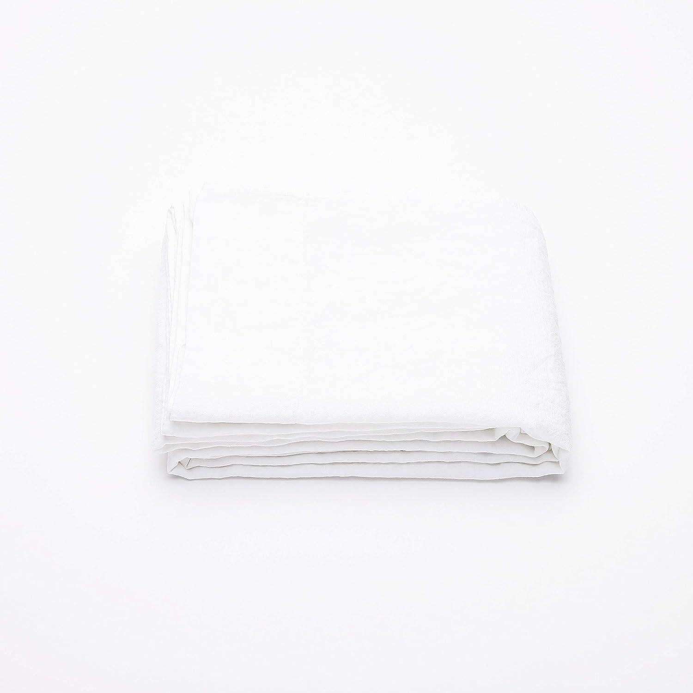 LinenMe 230 x 275 cm Vorgewaschenes alpinweißes Leinen-Bettlaken  0299003