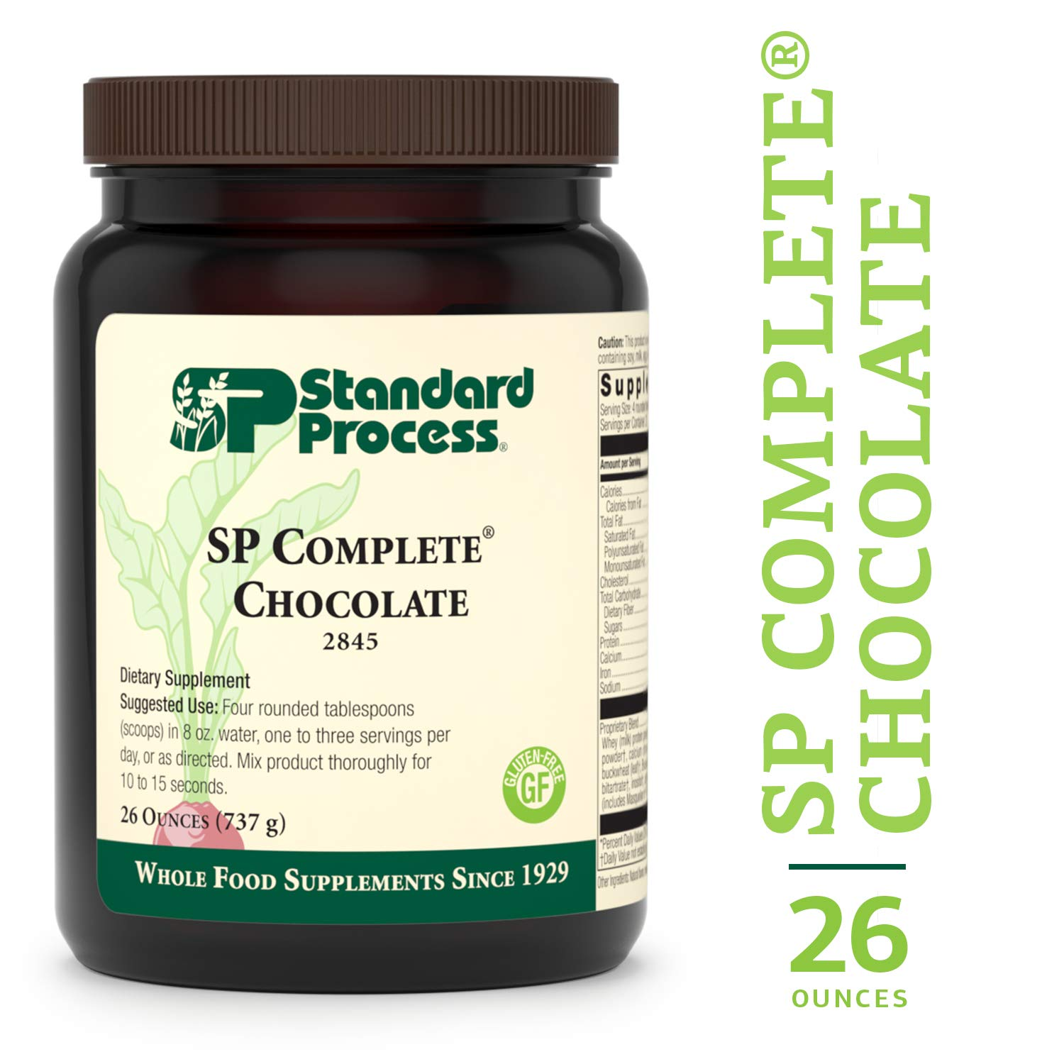 Standard Process - SP Complete Chocolate - Whole Food Nutritional Supplement, Protein, Calcium, Antioxidants, Supports Intestinal, Muscular, Immune System, Gluten Free, Vegetarian - 26 oz. by Standard Process
