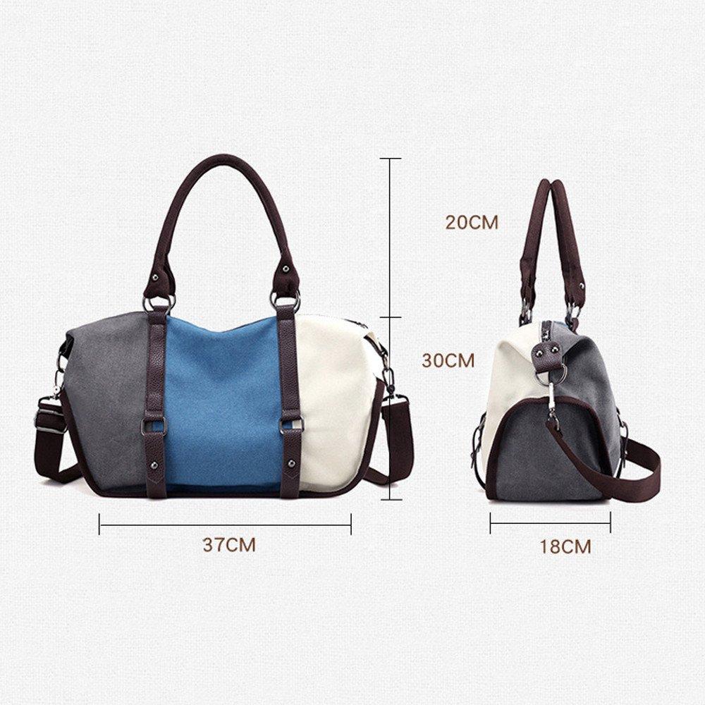 Serzul Women Leisure Large Designer Shoulder Bag Faux Leather Handbag Totes Fashion Split Crossbody Bag