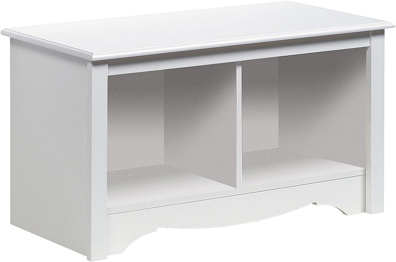Prepac Monterey White Twin Cubbie Bench (Small)