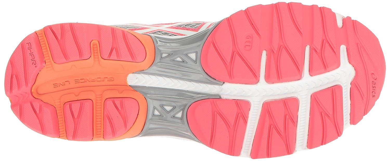Gel De Flujo 4 Zapatos Para Correr Asics De Las Mujeres - Blanco / Negro / Naranja Coral IF6SPs