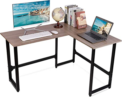Viewee L-Shaped Computer Desk 50.4'' Gaming PC Table Home Office Writing Desk