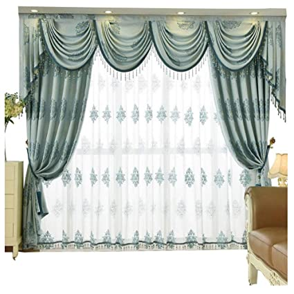 Amazon Com Queen S House Living Room Curtains With Valance 52 84