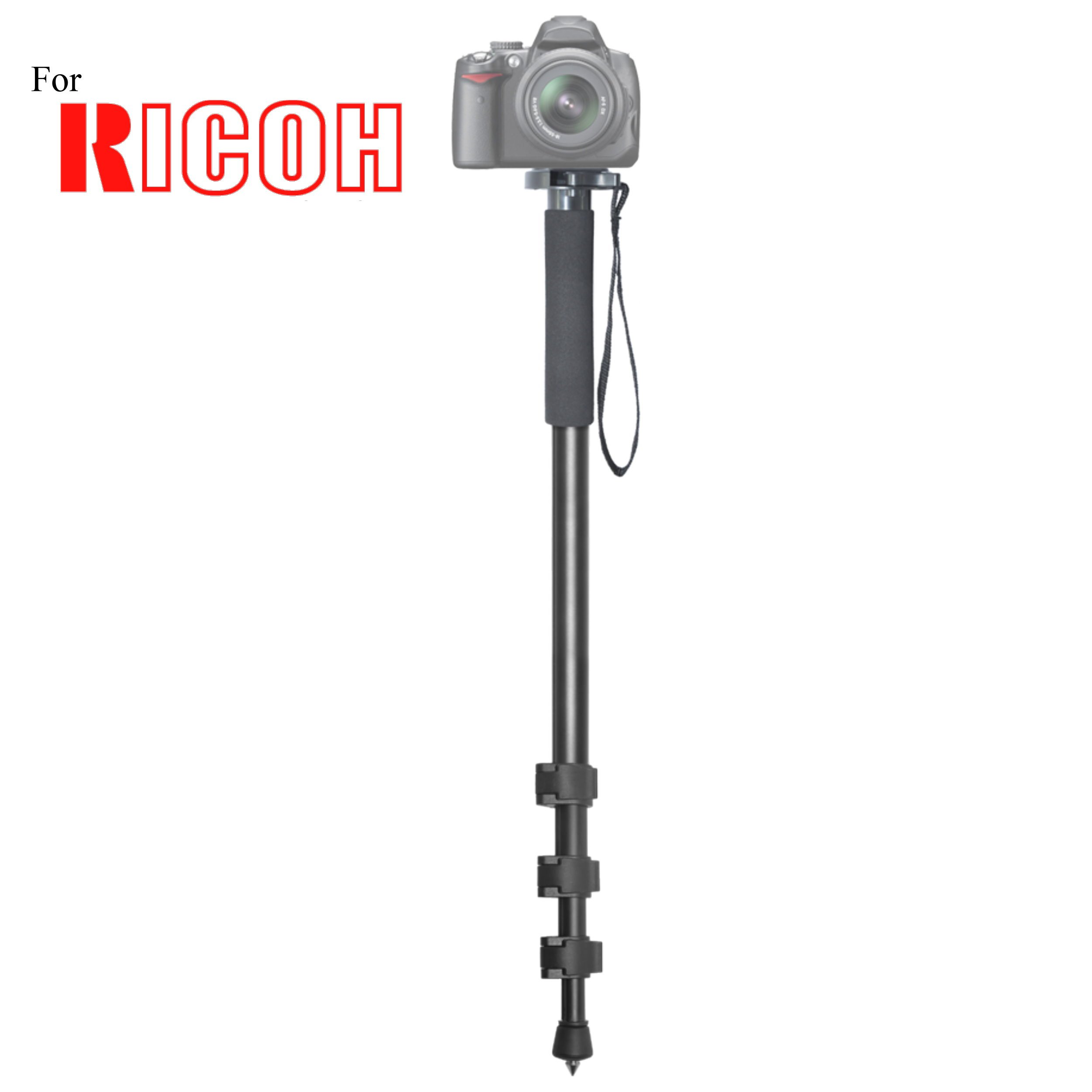 Versatile 72'' Monopod Camera Stick With Quick Release for Ricoh GR Digital II, GR Digital III, GR Digital IV, GR II, GXR A12 50mm F2.5 Macro, GXR A16 24-85mm Digital Cameras: Collapsible Mono pod