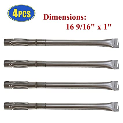 Barbecue Gas Grill Pipe Burners Replacement for Dyna-Glo DGF510SBP  DGF493BNP Grill Parts, 4 Pack Grill Burner Tubes for Backyard Gril GBC1461W