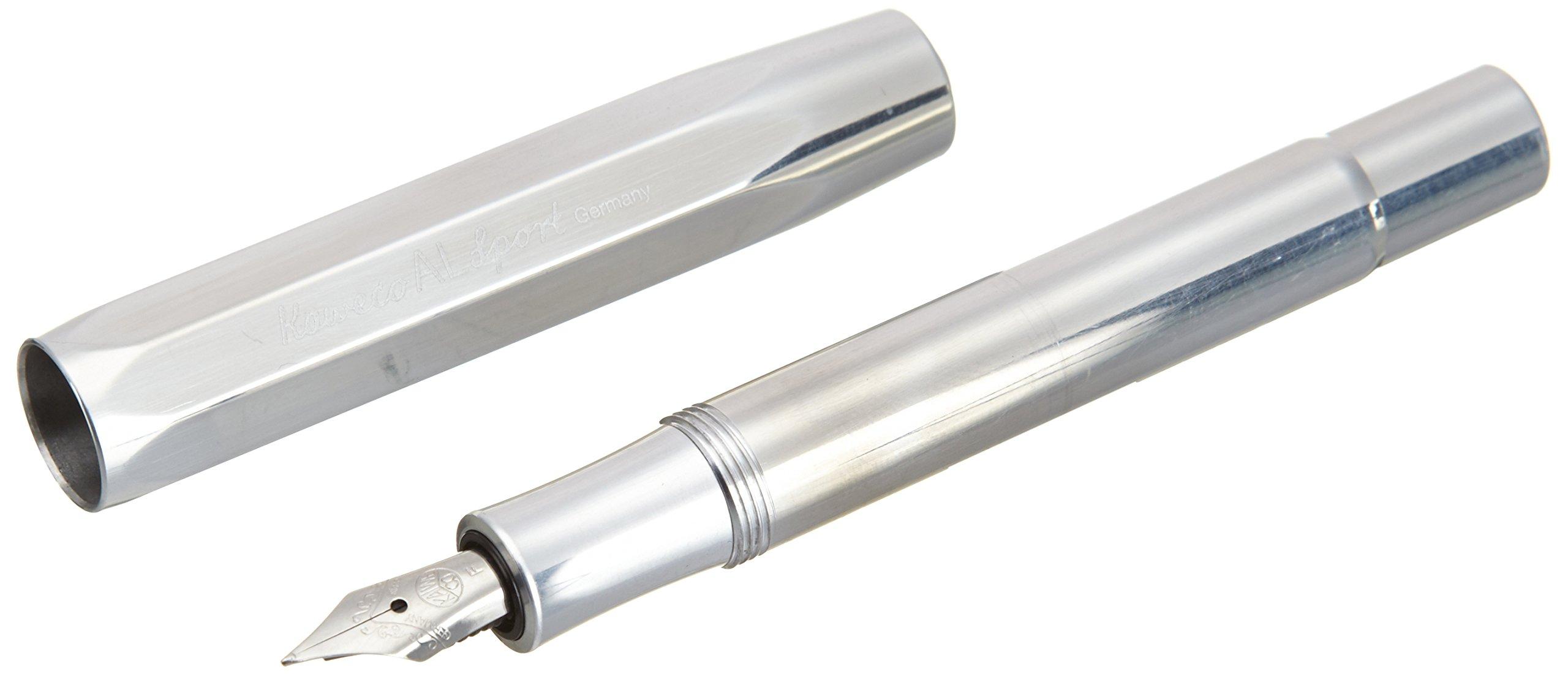 Kaweco AL Sport Fountain Pen, Raw Aluminum, Fine Nib by Kaweco