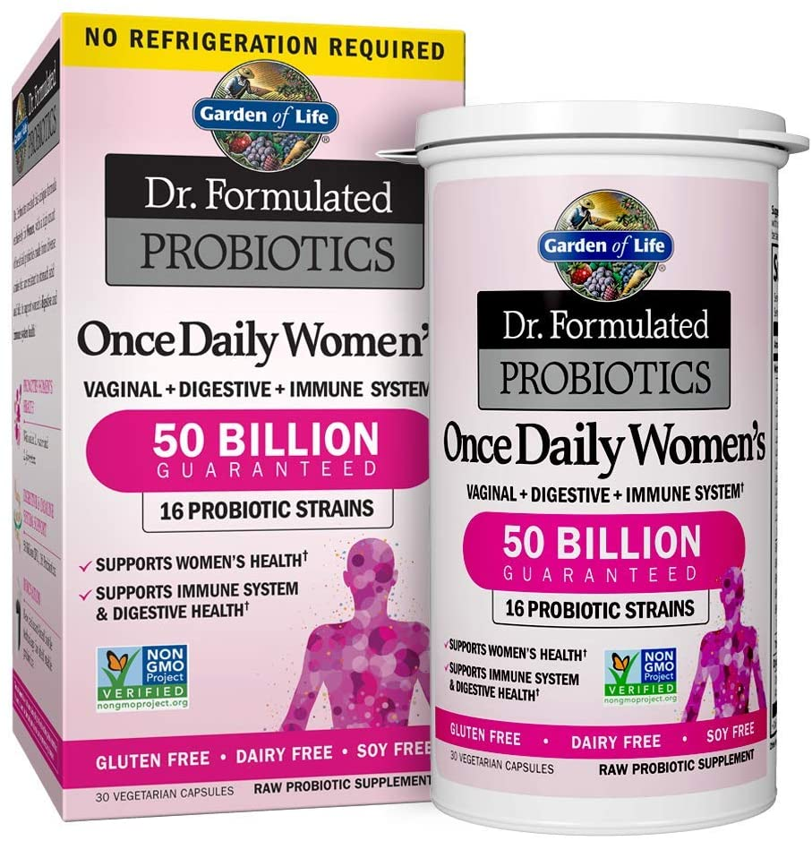 Garden of Life Probiotic Supplement for Women - Dr. Formulated Once Daily Women's for Digestive Health, Shelf Stable, 30 Capsules