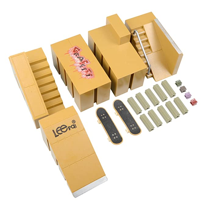 WayIn 5pcs Skate Park Kit Ramp Parts for Tech Deck Circuit Board Mini Finger Skateboard Fingerboards Ultimate Parks