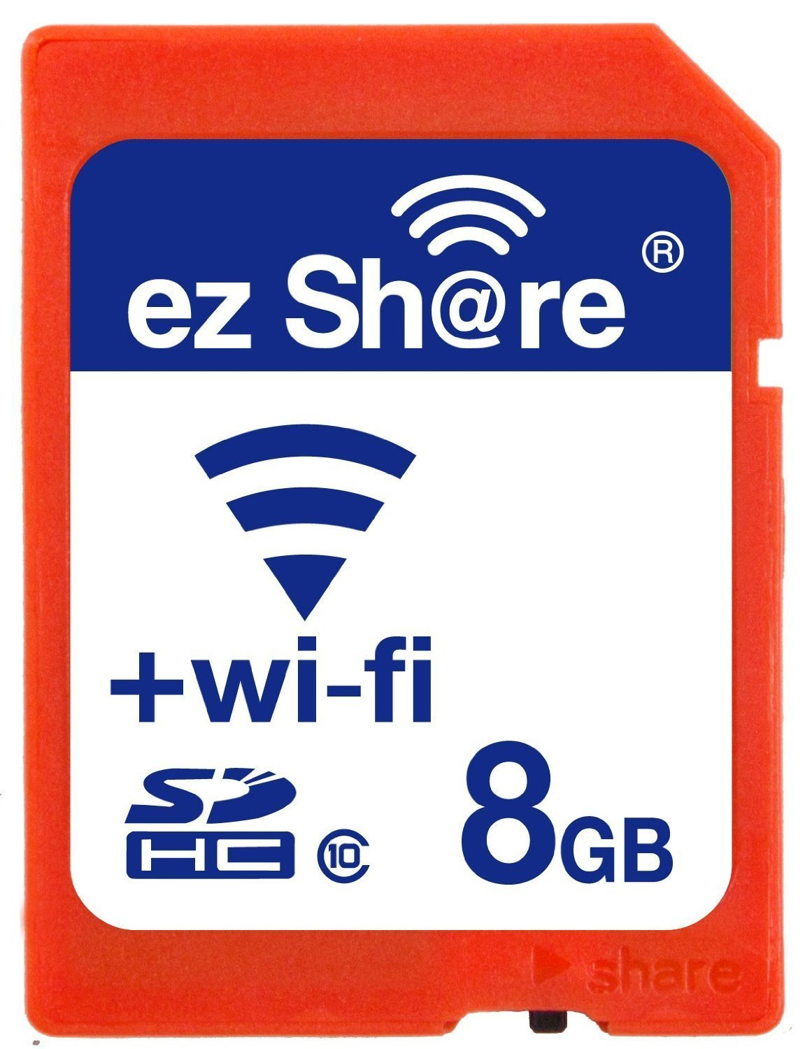 Wifi Sd Memory Card 8GB Class 10 New New Inc® 2nd Generation Ez Share
