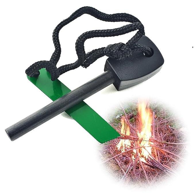 Pedernal de Magnesio, Mechero Encendedor Iniciador de Fuego, Campo, Camping, Acampada, Electrónica Rey®: Amazon.es: Electrónica