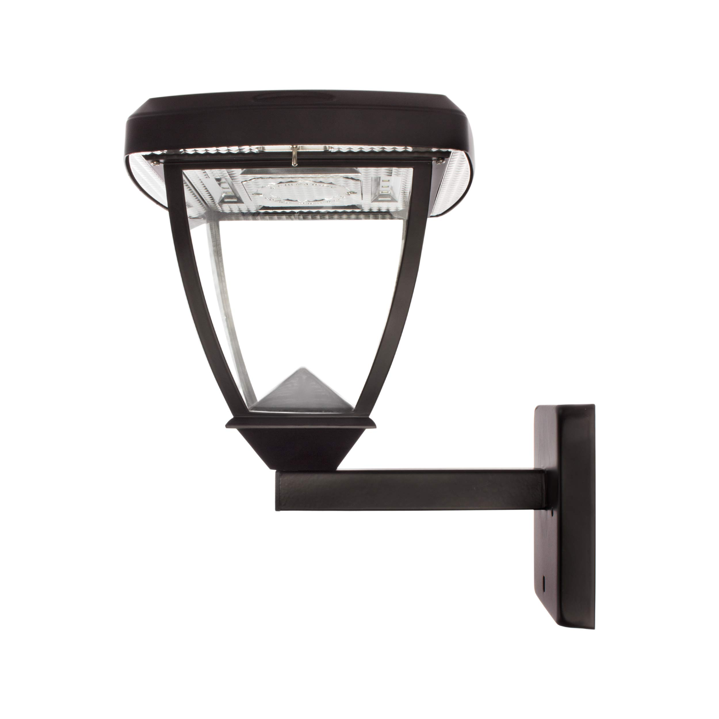 Solar Basics SBG2-118FPW Inversee Solar Light Fixture, 3'' Mounts for Pole Pier Wall, 2-Pack, Black, 2 Count