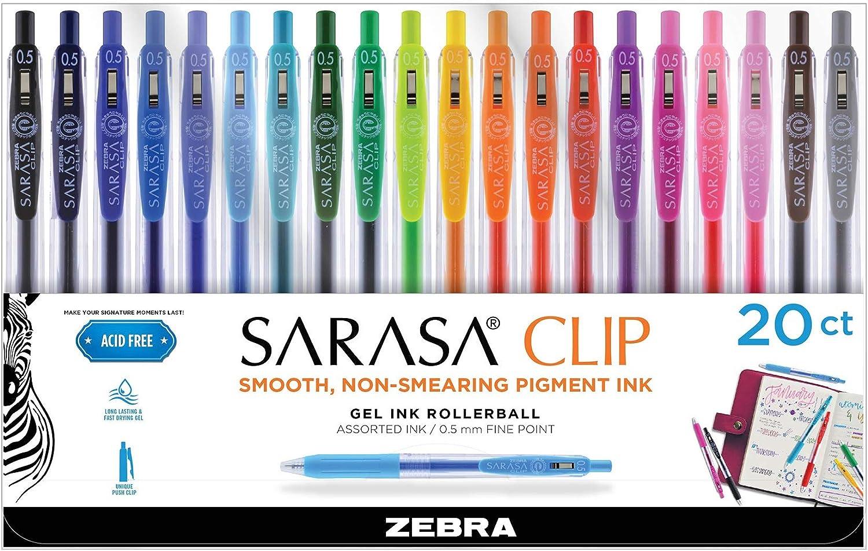 5 X Clip De Zebra Sarasa 1.0mm Bolígrafo Retráctil Rollerball Tinta Gel amplia Azul