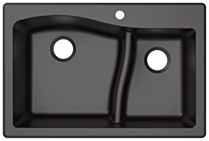 Kraus KGD-442BLACK Quarza Granite Kitchen Sink 33-inch Black