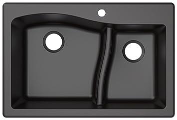 Kraus KGD-442BLACK Granite Kitchen Sink, Black - - Amazon.com